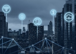 Buildings connected in a smart city to improve their sustainability